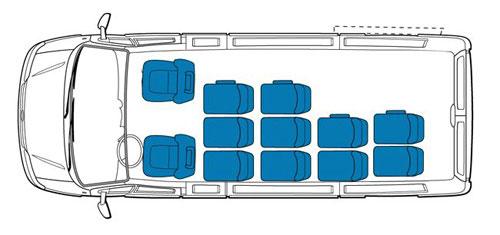 Схема мест в автомобиле